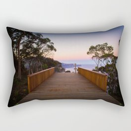 Sitting on the dock of the cliff Rectangular Pillow