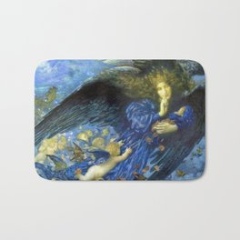 Night with her Train of Stars by Edward Robert Hughes Bath Mat