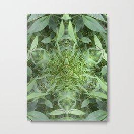 Wizard Of Green Metal Print