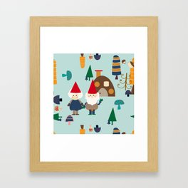 gnome blue Framed Art Print
