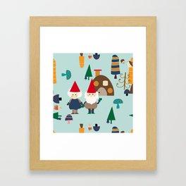 gnome blue Framed Art Print