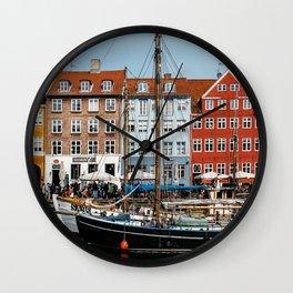 Nyhaven - Copenhagen, 2016 Wall Clock