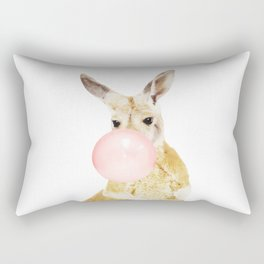 Kangaroo with chewing gum Rectangular Pillow