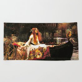 The Lady of Shalott Remastered Beach Towel