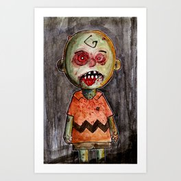 You're a zombie Charlie Brown Art Print