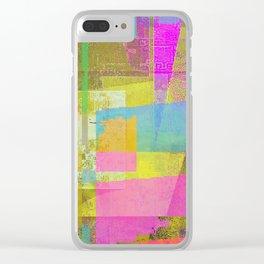 tearing pixels apart Clear iPhone Case