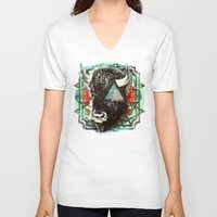 navajo V-neck T-shirts featuring Navajo by 4364