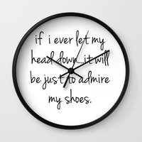 shoes Wall Clocks featuring Shoes by I Love Decor