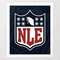 National League of Evil Art Print