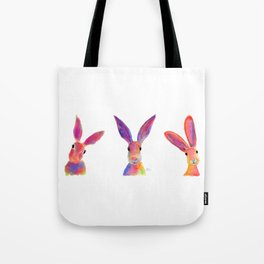 HaRe RaBBiT BuNNY PRiNT ' THe HaPPY HaReS ' BY SHiRLeY MacARTHuR Tote Bag