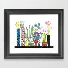 Exotic pots and plants Framed Art Print