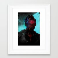 cyberpunk Framed Art Prints featuring Cyberpunk #2 by Lunaramour