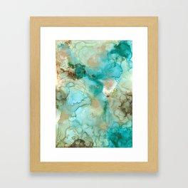 Alcohol Ink 'Mermaid' Framed Art Print