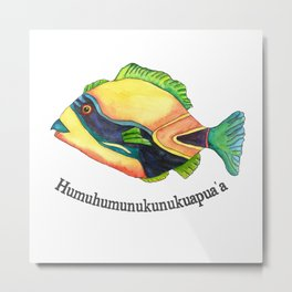 H is for Humuhumunukunukuapua'a Metal Print