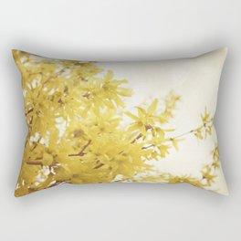 Dreamy Forsythia  Rectangular Pillow