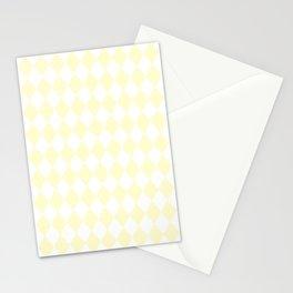 Diamonds (Cream/White) Stationery Cards