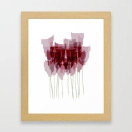 Dark Red Goblet Flower Bunch Framed Art Print