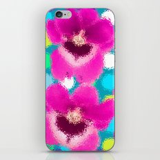 pink orchid and spot with ripples iPhone & iPod Skin