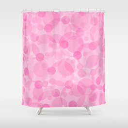 Pink Bubbles 1 Shower Curtain