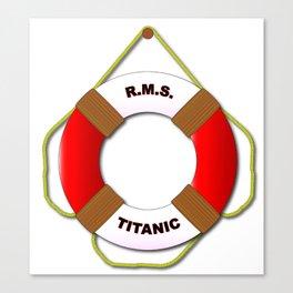 RMS Lifebelt Canvas Print