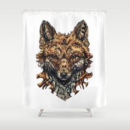 Steampunk - Fox Shower Curtain