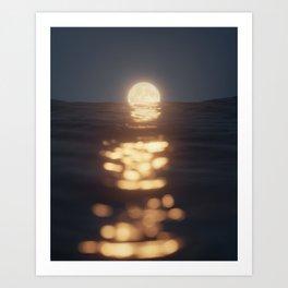 Melting Moon Art Print