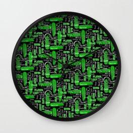 Gamer Lingo-Black and Green Wall Clock
