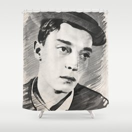 Buster Keaton, Legend Shower Curtain