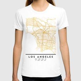 LOS ANGELES CALIFORNIA CITY STREET MAP ART T-shirt