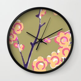 Cherry Blossom Spring Wall Clock