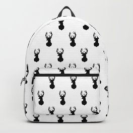 Deer, Minimal, Scandinavian, Abstract, Pattern, Modern art Backpack