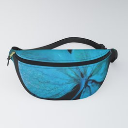 Shiny turquoise petals on a black background - #society6 #buyart Fanny Pack