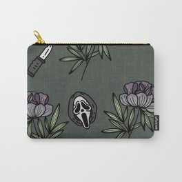 ghostface w knife ~green tones Carry-All Pouch