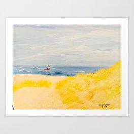 Beyond The Dunes Art Print