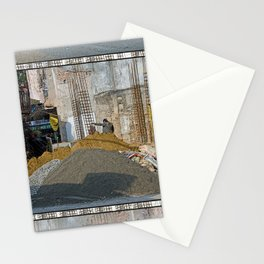 CONSTRUCTION SITE POKHARA NEPAL Stationery Cards