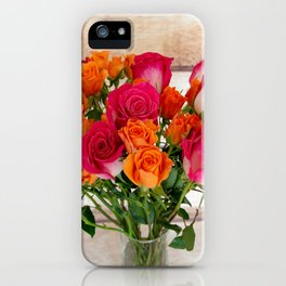 Colorful Rose Bouquet iPhone Case