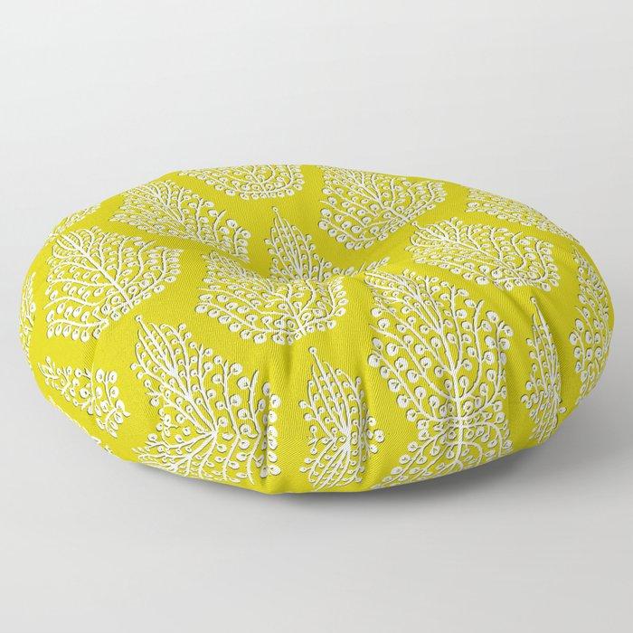 SPIRIT lime white Floor Pillow