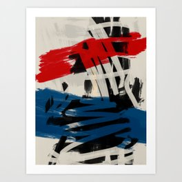 French Expressionist Abstract Art Art Print