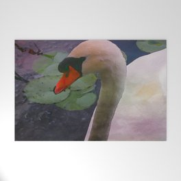 Mute Swan - Water Color Welcome Mat