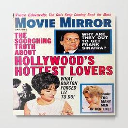 Vintage Movie Mirror Magazine 1963 Metal Print