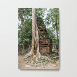 Ta Phrom, Angkor Archaeological Park, Siem Reap, Cambodia Metal Print