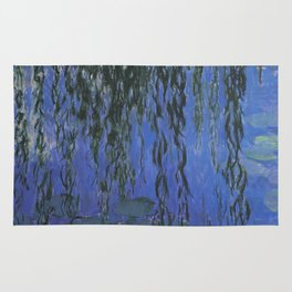 Water Lilies and Weeping Willow Branches by Claude Monet Rug
