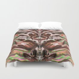 Abstract Anomaly [Berry Blossom] Duvet Cover