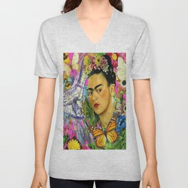 Frida Kahlo Alas Unisex V-Neck