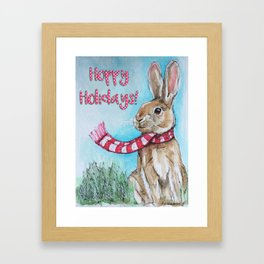 Hoppy Holidays Framed Art Print
