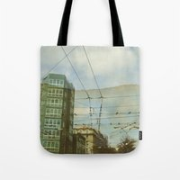 milan Tote Bags featuring Milan - Underground by Sandra Liarte