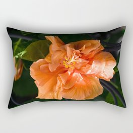 Apricot Hibiscus Rectangular Pillow
