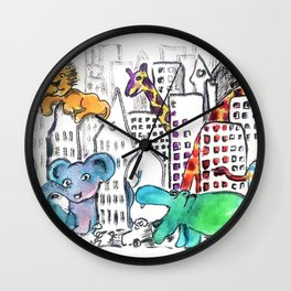 Urban Jungle Wall Clock