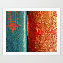 Antique Books 2 Art Print