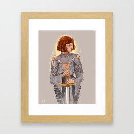 'Joan of Arc' / Zendaya Framed Art Print